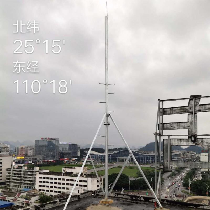 5G无线信号塔单管塔一体化基站通讯附墙抱杆通信支撑架桅杆发射塔