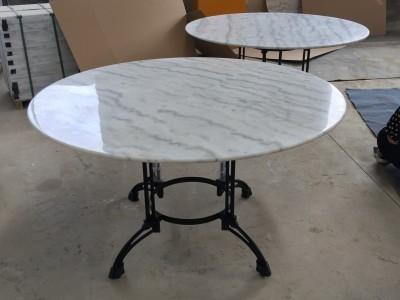 贺州白色大理石圆桌面 台面加工厂家