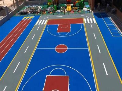 上林新国标篮球场丙烯酸施工价格表