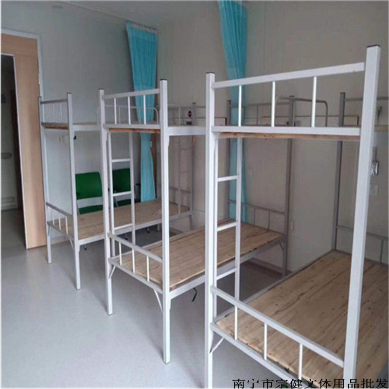 广西南宁单层/双层/三层铁架床_工地上下铺铁架床