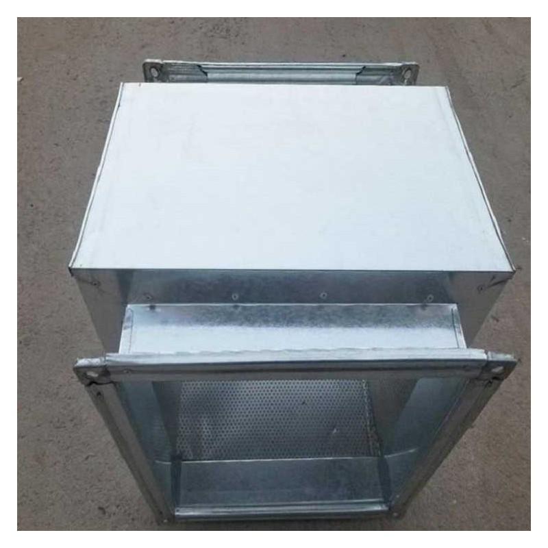 批发通风管道消声器 风机消音器 方形风管排烟消声器