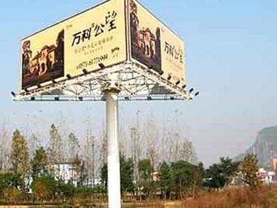 高杆广告制作 抗风12级高杆广告牌定制 3面高杆广告牌价格