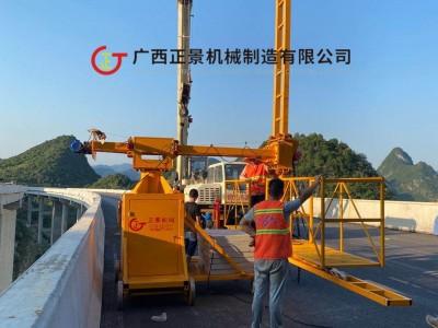 斜拉桥梁雨水管安装机器