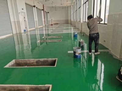 广西停车场办公室车间环氧地坪漆施工