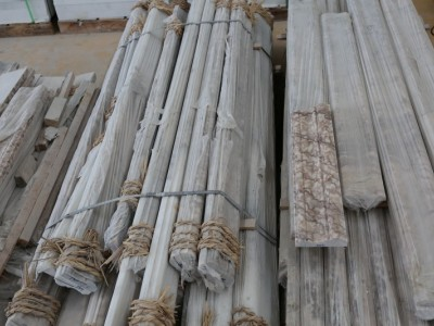 天然白色大理石线条厂家批发 石立方