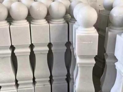 批发供应广西白天然大理石栏杆柱子