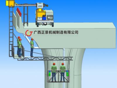 高速公路桥下安装排水管机器