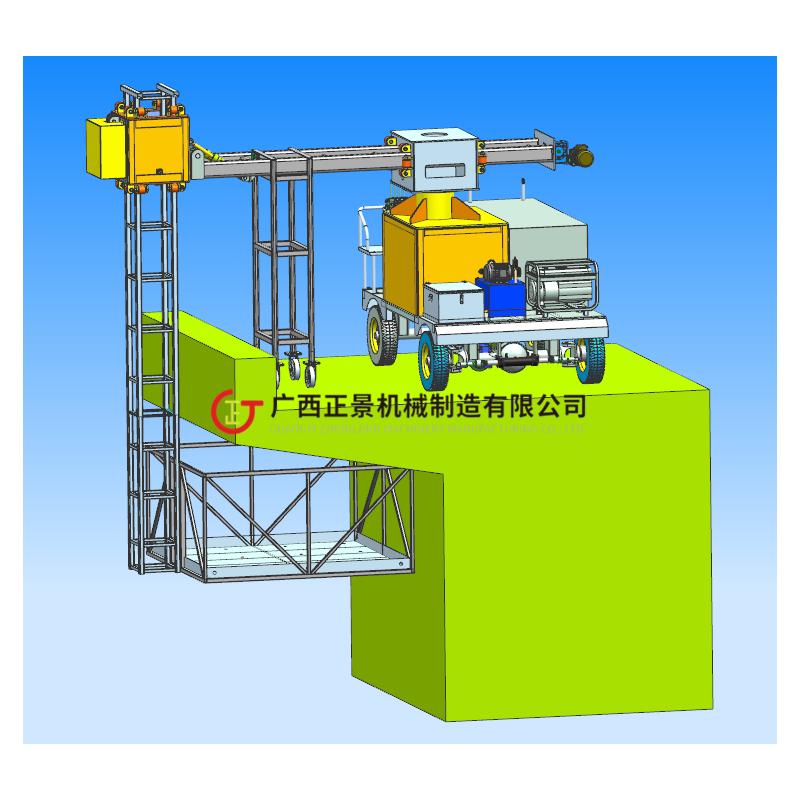 桥面落水管安装操作平台 效率高速度快