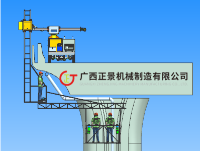 高速公路桥下安装雨水管机器