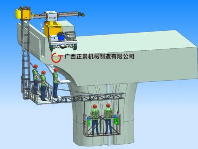 高速公路桥梁排水管安装施的工程机械