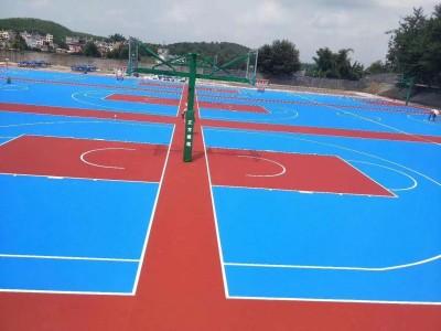 安徽丙烯酸篮球场地坪材料-合肥弹性丙烯酸报价