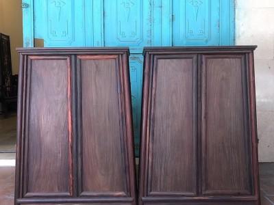 圆角柜 大红酸枝圆角柜批发定制 交趾黄檀1.3米圆角柜