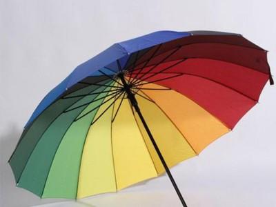 南宁广告伞定制 长柄彩色伞厂家定做 LOGO印字广告伞批发