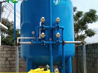 定做活性炭填料机械过滤器碳钢防腐过滤罐反冲洗污水过滤处理设备
