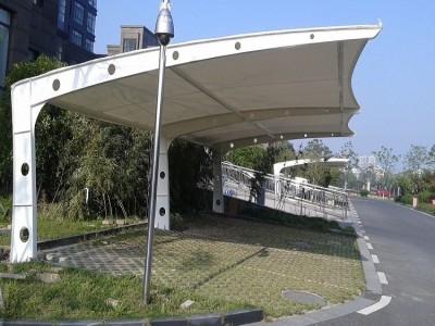 户外膜结构汽车蓬 小区自行车棚 电动充电桩棚 加粗骨架加厚布料