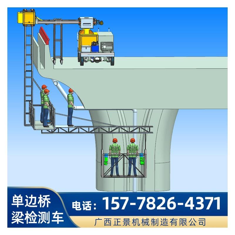 桥梁墩柱上排水管安装设备 升降吊篮式桥墩竖管安装