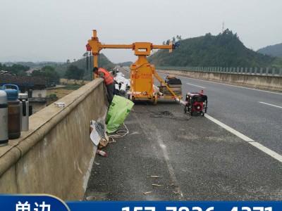 护栏落水管安装吊笼-桥梁落水管安装施工方法-桥梁护栏出水管安装高空作业车