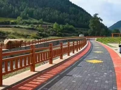 南宁仿木水泥栏杆 景区仿木栏杆 河道仿木护栏