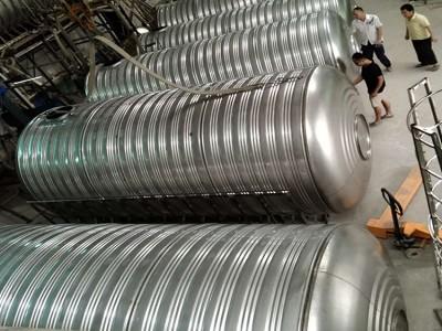 柳州不锈钢水塔定做 柳州水塔厂 不锈钢水罐加工定制 屋顶水塔水罐价格