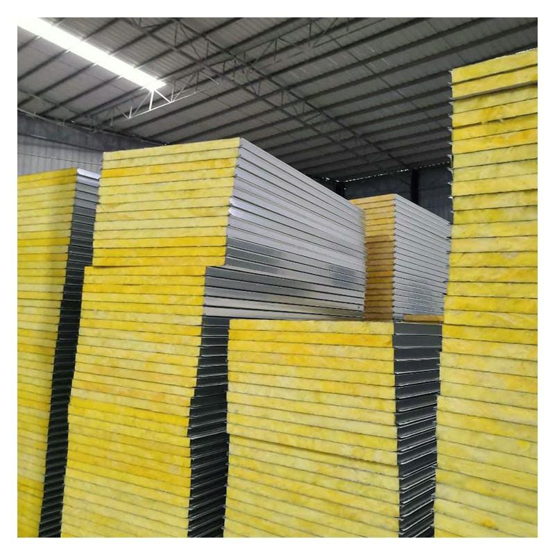 广西南宁夹芯板厂家批发 950型 1150型活动板房夹芯板 玻璃棉夹芯板瓦
