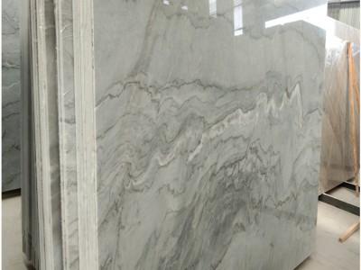 浅灰色大理石原材料布鲁斯灰大板批发