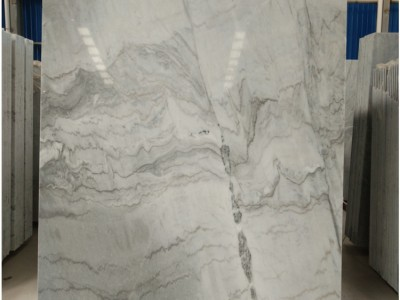 灰色大理石纹理优美 原材料布鲁斯灰现货大板批发