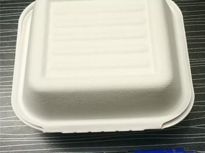 广西一次性环保餐盒 酒店餐饮一次性快餐盒纸浆可降解 定制开模 量大价优