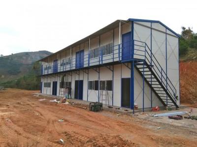 双层彩钢活动板房 建筑工地临建房 住人活动板房可定制