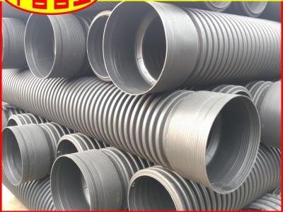 【工厂批发】海南省PE波纹管DN160SN8河道整治用排污波纹管