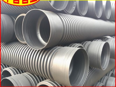 【工厂批发】广东省PE波纹管DN160SN8河道整治用排污波纹管