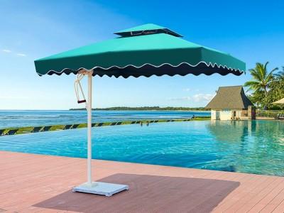 来宾户外庭院花园露台大罗马伞价格 室外休闲遮阳侧边伞厂家