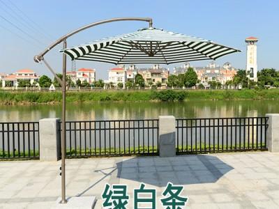 平果户外遮阳庭院伞厂家 室外大型花园咖啡厅香焦伞价格 直销供应