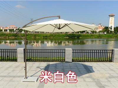 河池单边伞出租厂家 户外遮阳香焦伞批发 边柱侧立吊太阳伞价格