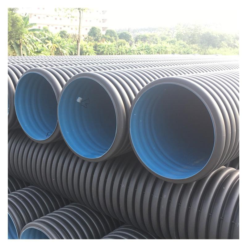 广西南宁HDPE双壁波纹管 PE塑料管排水排污管 双壁波纹管
