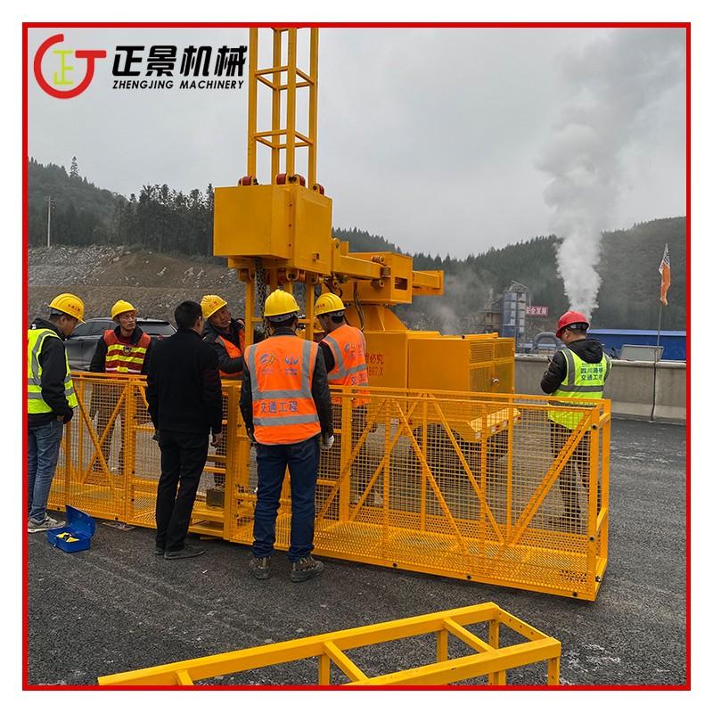 桥梁排水管安装吊笼 雨水管安装车 可安装横管竖管