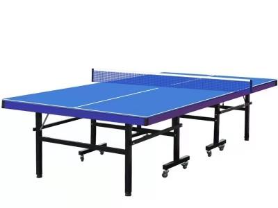 标准可折叠乒乓球桌子带轮球台 可贴牌乒乓球桌 室内家用乒乓球台