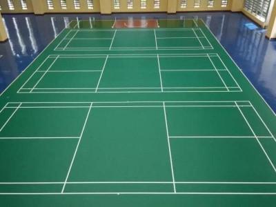 室内羽毛球场健身房地胶垫弹性篮球场地胶乒乓球PVC塑胶运动地板