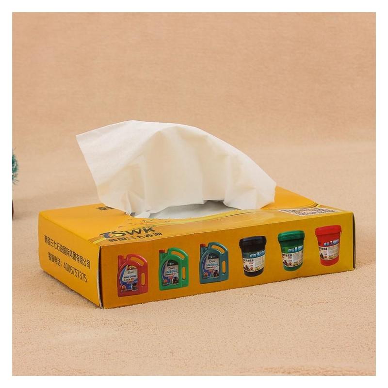 盒装纸巾定制 广西盒抽纸定制 餐巾纸面巾纸 酒店KTV抽纸厂家定做