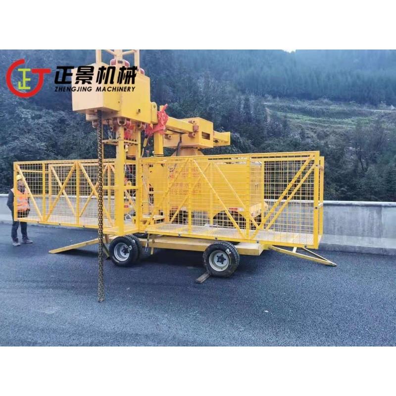 排水管安装挂篮 桥梁排水管安装专用设备 立交桥雨水管安装施工设备