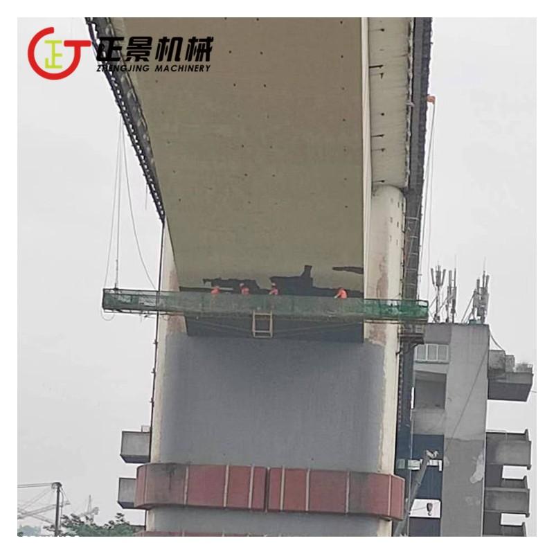 桥梁景观提升工程吊篮车 桥梁亮化涂装工作吊篮 高速公路裂缝修补施工吊篮