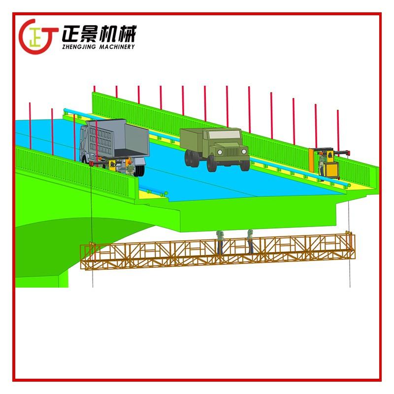 钢箱梁底部喷漆防腐用的吊篮车 高铁高架桥梁固定检修车定做