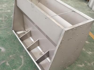 不锈钢双面料槽 猪用自动下料槽 育肥 小猪料槽 猪食槽养猪设备