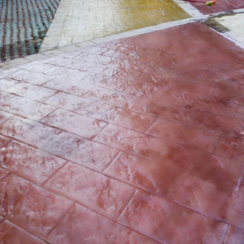 桂林小区压印地坪压模材料价格 压花地坪材料施工