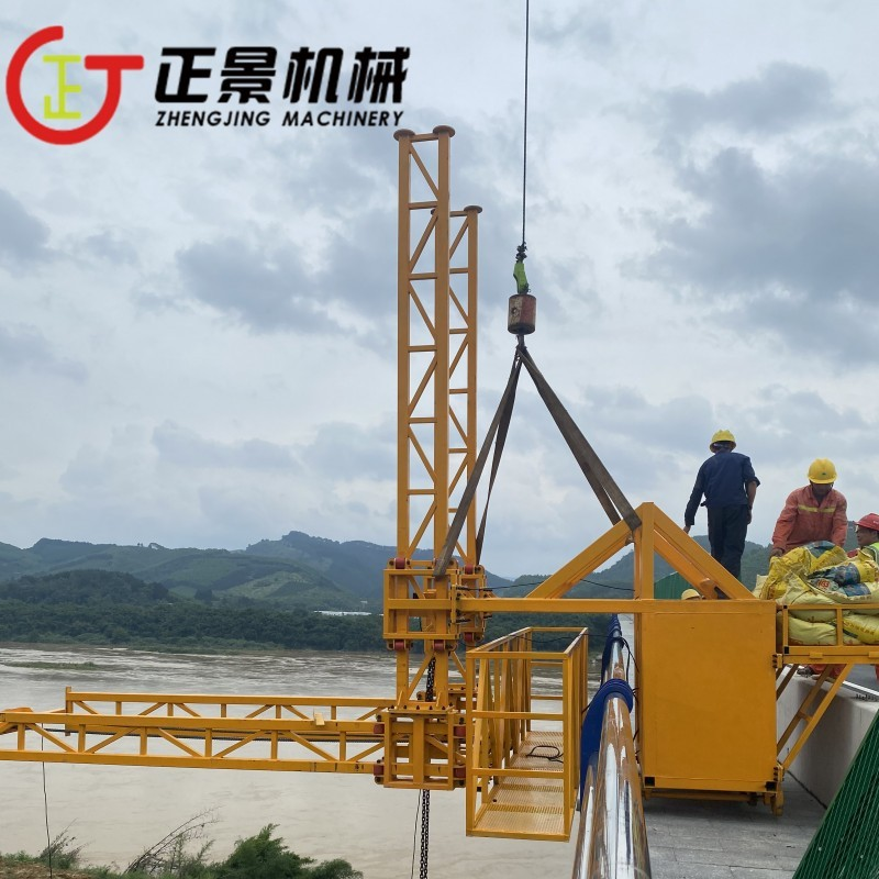 铁路桥排水管安装车 高架桥施工吊篮 正景机械
