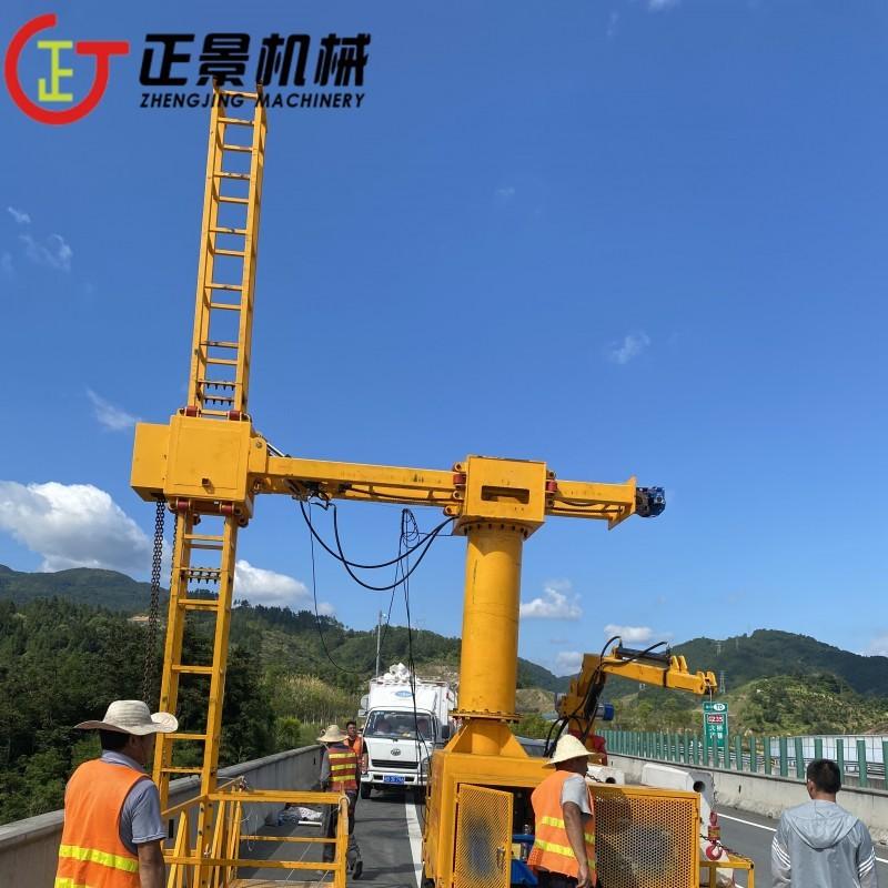 安装高铁市政桥梁pvc泄水管的吊篮车 广西高铁排水管安装吊篮定制厂家