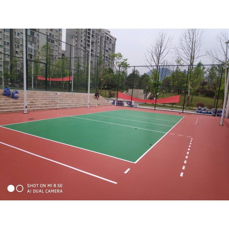 弹性丙烯酸塑胶篮球场网球场羽毛球排球场硬地丙烯酸球场施工硅pu