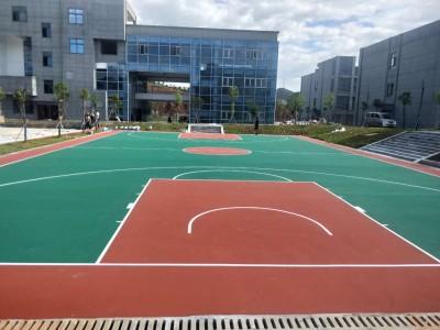 运动球场篮球场地坪漆施工室外运动场丙烯酸硅PU球场地坪漆