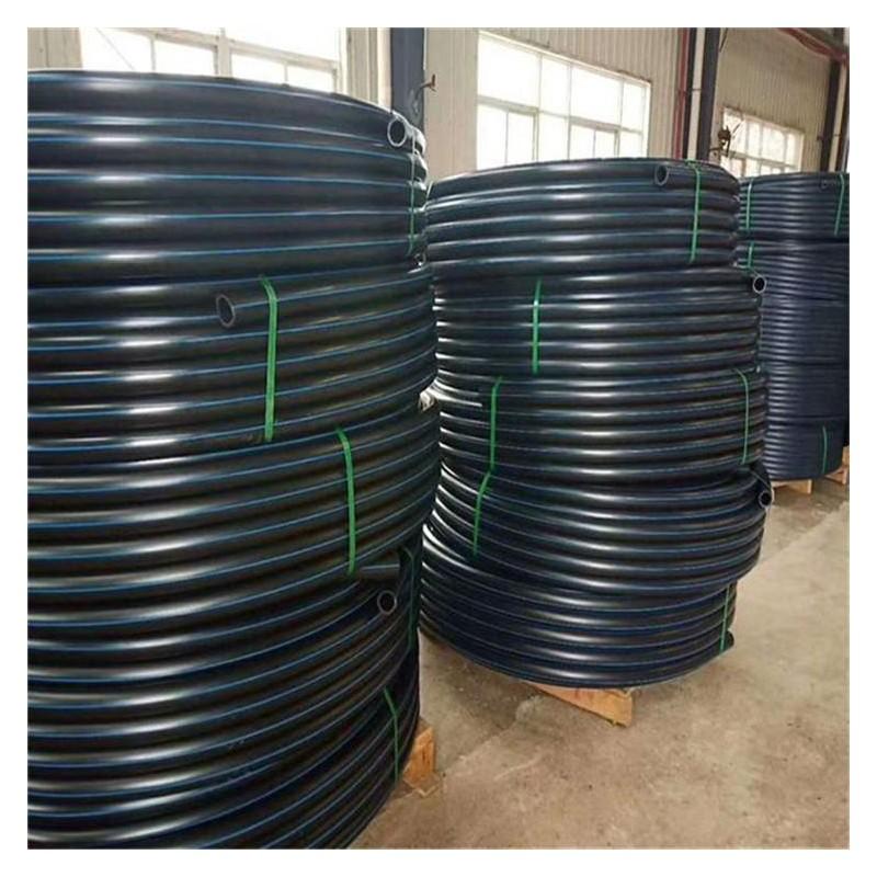 PE农田灌溉管 PE110管高韧性全新料黑色排水管 工程农田灌溉管