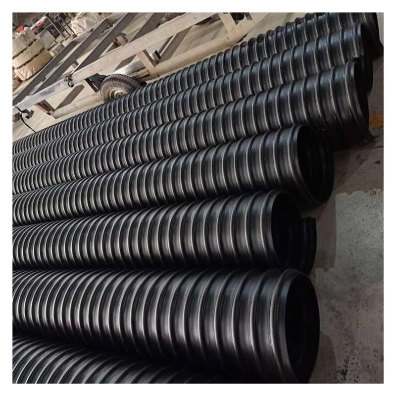 波纹管 HDPE钢带波纹管批发 社区排水DN700波纹管厂家 大口径水管