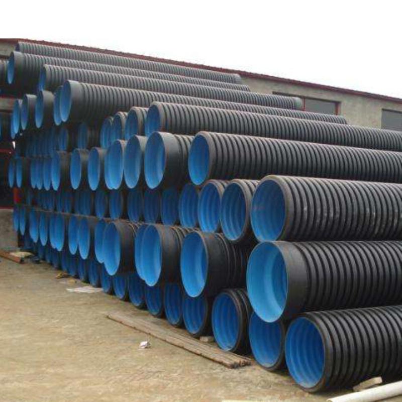 广西HDPE双壁波纹管供应商 PE塑料管排污排水管道批发 厂家销售